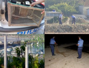 Action taken against illegal bird trapping sites on Gozo