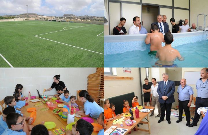 Minister for Gozo visits Kercem sports facilities and summer club