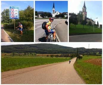 Louis Debattista in Switzerland on Gozo CCU Foundation charity cycle ride
