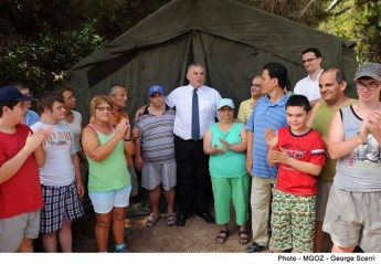 Paracamp for youths with special needs at Fort Chambray