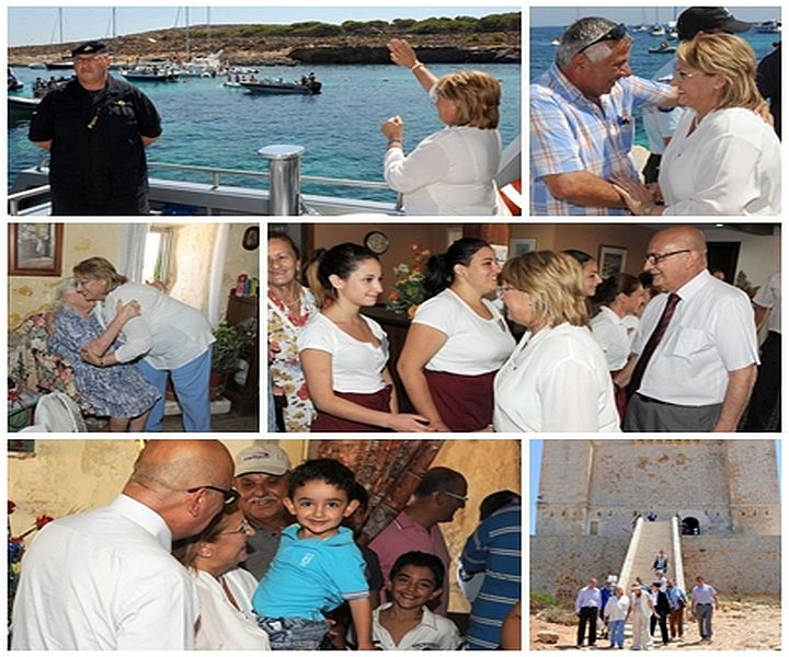 President Marie-Louise Coleiro Preca pays an official visit to Comino