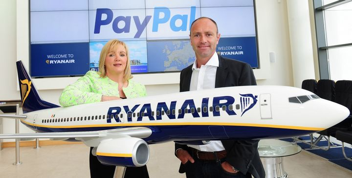 Ryanair launches new payment partnership with PayPal