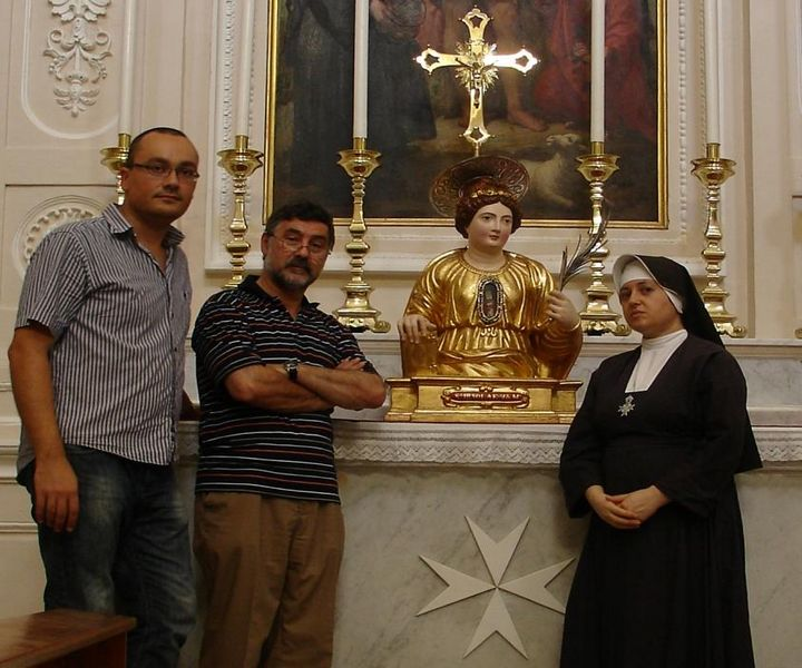 Bust of Saint Ursula fullly restored by Heritage Malta team