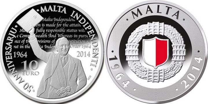 CBM silver coin commemorating 50th anniversary of Independence
