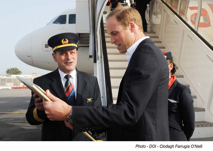 Prince William given a warm Maltese welcome by Air Malta this weekend