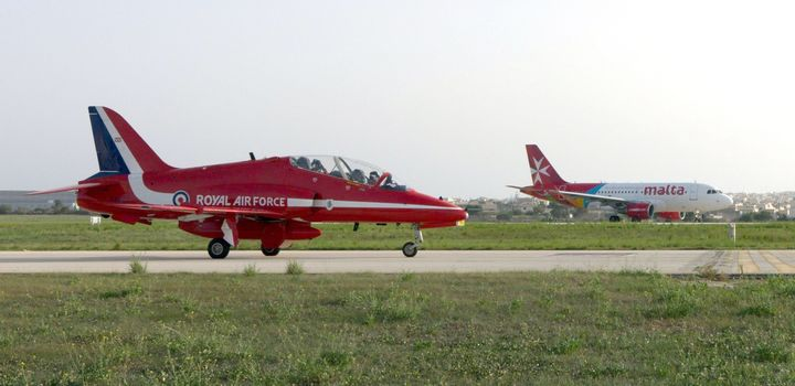 Air Malta to fly in a formation flypast with the Red Arrows
