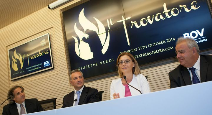 Gozo Opera receives BOV's support: Teatru Aurora's Il Trovatore launched