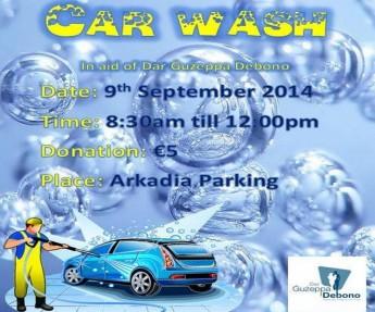 Charity car wash in Victoria in aid of Dar Guzeppa Debono