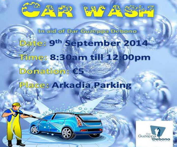 Charity car wash in Victoria in aid of Dar Guzeppa Debono
