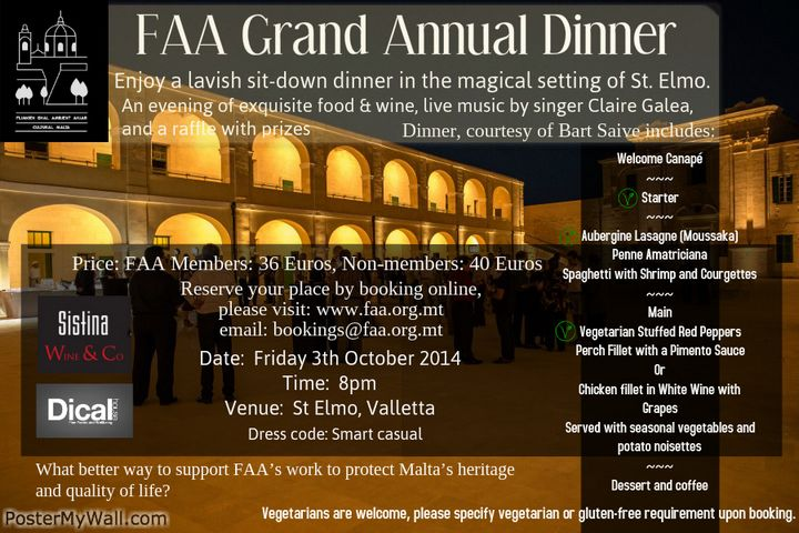 FAA Annual Dinner takes place next week at newly-restored Fort St. Elmo