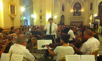 The Stella Maris Choir and Orchestra pay tribute to Mgr Joseph Mintoff