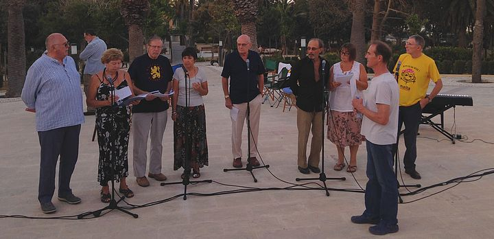 Gozo Live performance evening held at the Villa Rundle Gardens