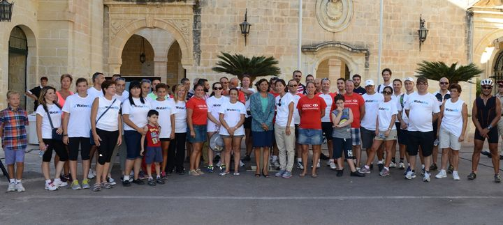 HSBC Malta staff take to the road from Gozo for fundraising challenge