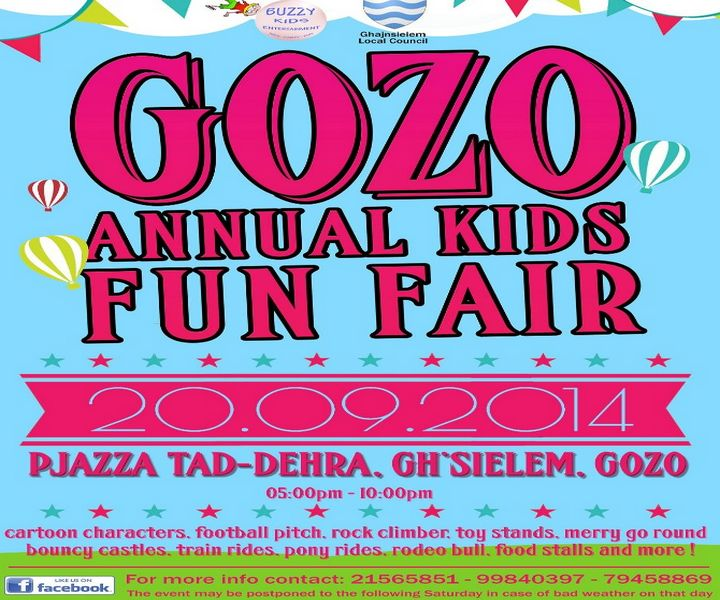 Gozo annual children's funfair taking place in Ghajnsielem