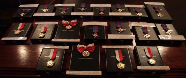Gieh ir-Repubblika medals being awarded during anniversary celebrations