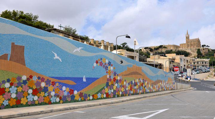 Mosaic mural 'Merhba bil-fjuri' at Mgarr to be extended