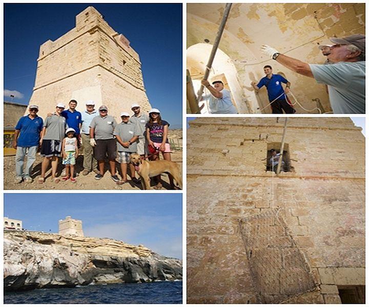 The Coastal Watch Tower Torri ta Xutu is given a helping hand