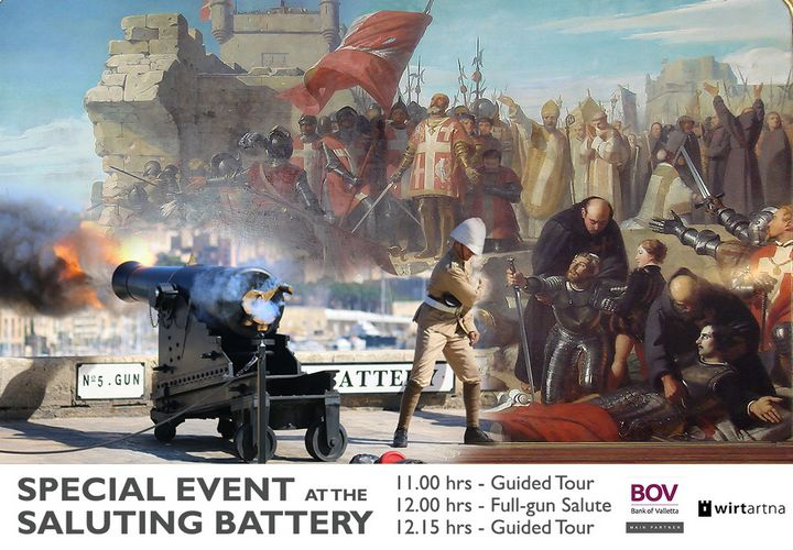 Wirt Artna Victory Day special event at the Saluting Battery, Valletta