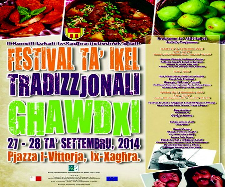A Festival of Gozitan traditional food taking place in Xaghra