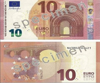 New €10 banknote being introduced into circulation this Tuesday