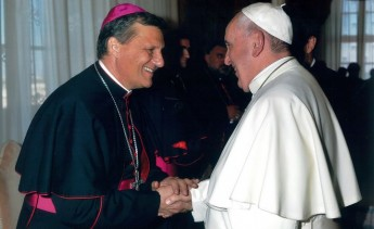 Gozo Bishop Mario Grech meets Pope Francis at the Vatican