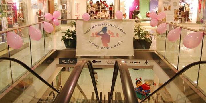 Breast cancer awareness event in Gozo at the Duke Shopping Complex