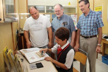 Gozo Philatelic Society members purchase  Grandmasters stamp sets