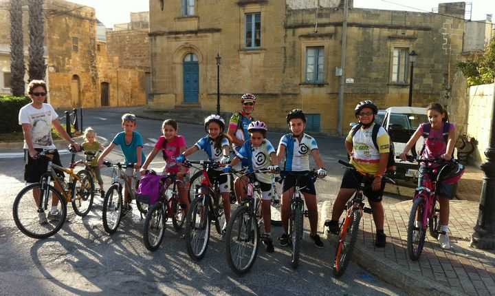 Gozo Greyhounds Sports Club members do 22Km cycle tour