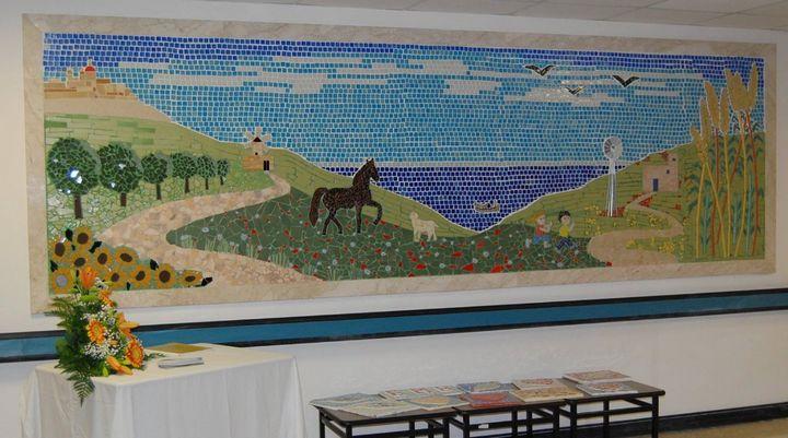 Il-Hajja Sabiha: Mosaic mural inaugurated at Tal-Ibragg Hospital, Victoria