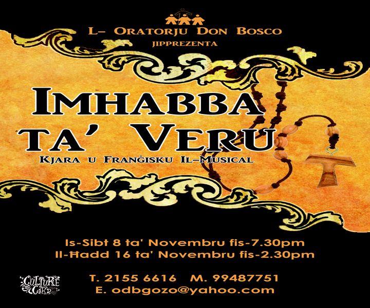 'Imhabba ta' Veru: Kjara u Frangisku Il-Musical' a new musical in Gozo