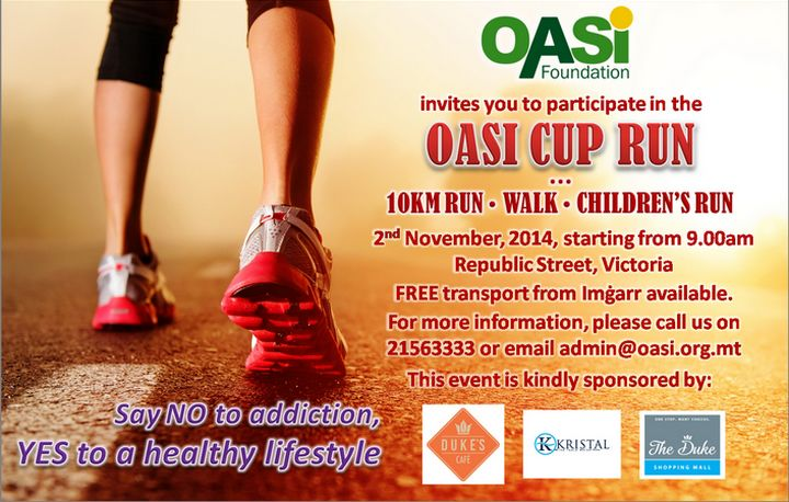 The OASI Foundation Cup Run: 10 Km Road Run, Fun Walk & Children's Run