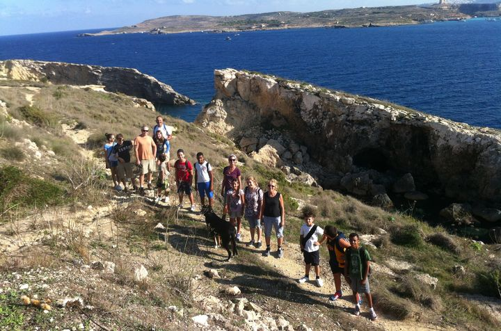 Gozo Greyhounds Sports Club weekend bike ride and hike