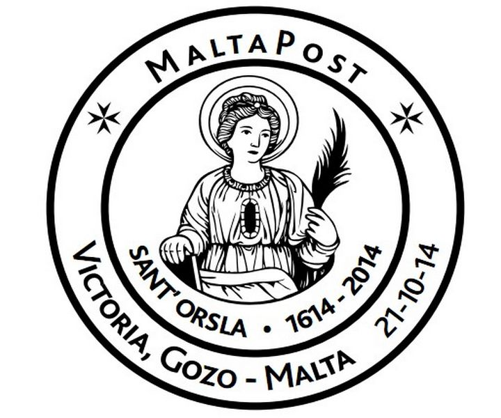 Special Hand Postmark – Sant' Orsla 400th anniversary of arrival in Gozo