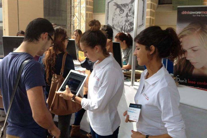 Drink Aware Malta initiative at University Freshers Week