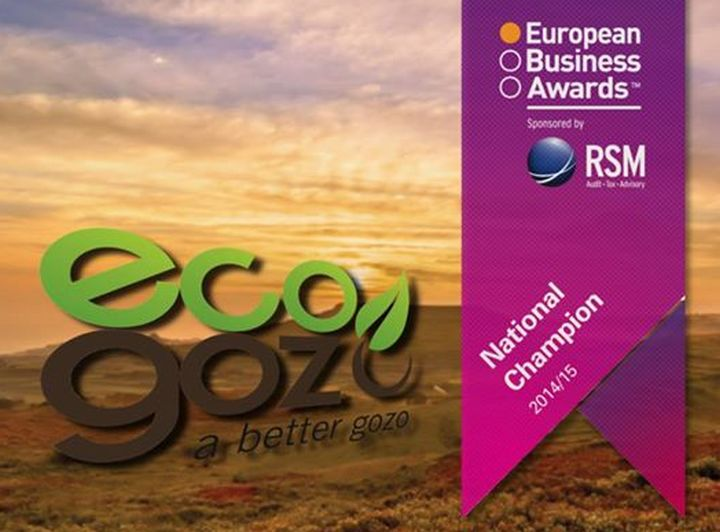ecoGozo named as a National Champion in European Business Awards