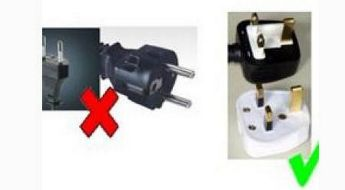 Electrical products should be fitted with 3-pin plug or a conversion - MCCA