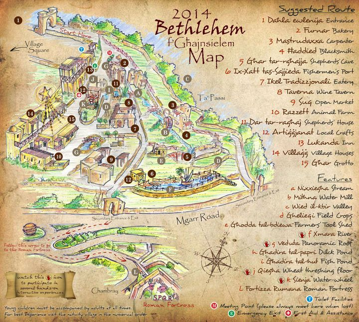 Official map unveiled for Bethlehem f'Ghajnsielem which opens next week