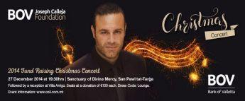 BOV Joseph Calleja Foundation December Fund Raising Christmas Concert