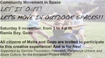 Community movement in space workshop: Ramla Bay, Gozo