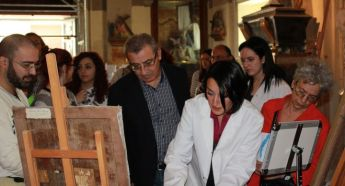 Education Minister opens restoration workshop at Our Lady of Victory Church