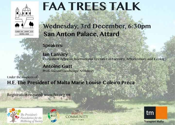'Trees Talk' with consultant arborist Ian Lansley & Antoine Gatt a landscape architect