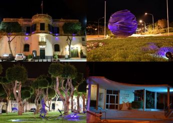 Gozo buildings & monuments illuminated in blue for World Diabetes Day