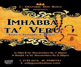 New musical in Gozo: 'Imhabba ta' Veru: Kjara u Frangisku Il-Musical'