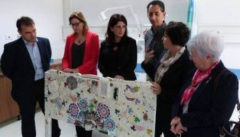 'Pillow Talk' collage presented to the Chemo Ward at Gozo General Hospital