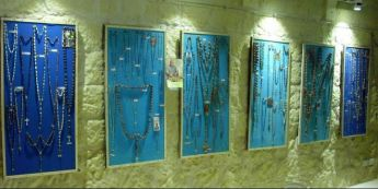 Karmni Grima Museum exhibition of rosaries worked from seeds