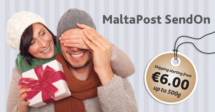 Reduced rate of €6 for delivery of items up to 500g on MaltaPost's SendOn