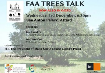 FAA 'Trees Talk' in Gozo with the consultant arborist Ian Lansley