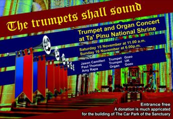 Fundraising Concert at Ta' Pinu National Sanctuary: The trumpets shall sound