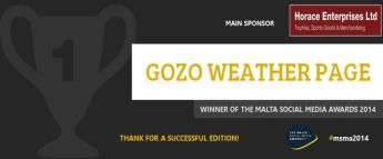Gozo Weather Page wins best Maltese Facebook page - MSMA 2014