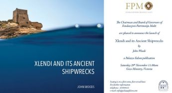 Gozo book launch of 'Xlendi and its Ancient Shipwrecks' by John Woods